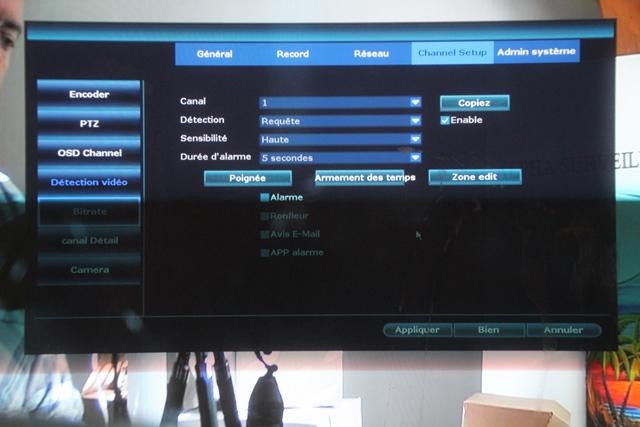 videosurveillance wifi parametrage cameras
