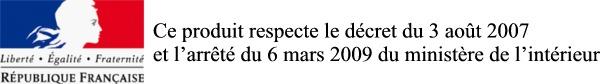 videosurveillance conforme au decret du 3 aout 2007