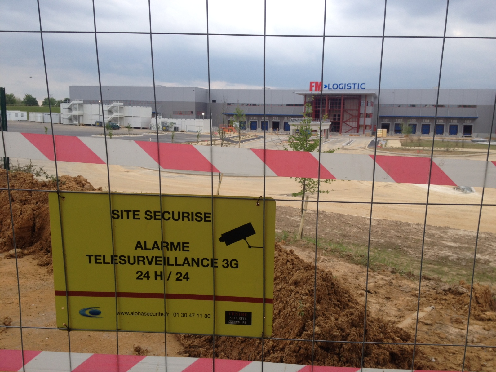 alarme video chantier construction