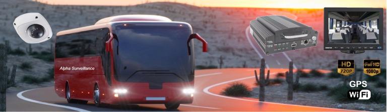 Kit caméra de vidéoprotection embarquée pour transport bus, autocar