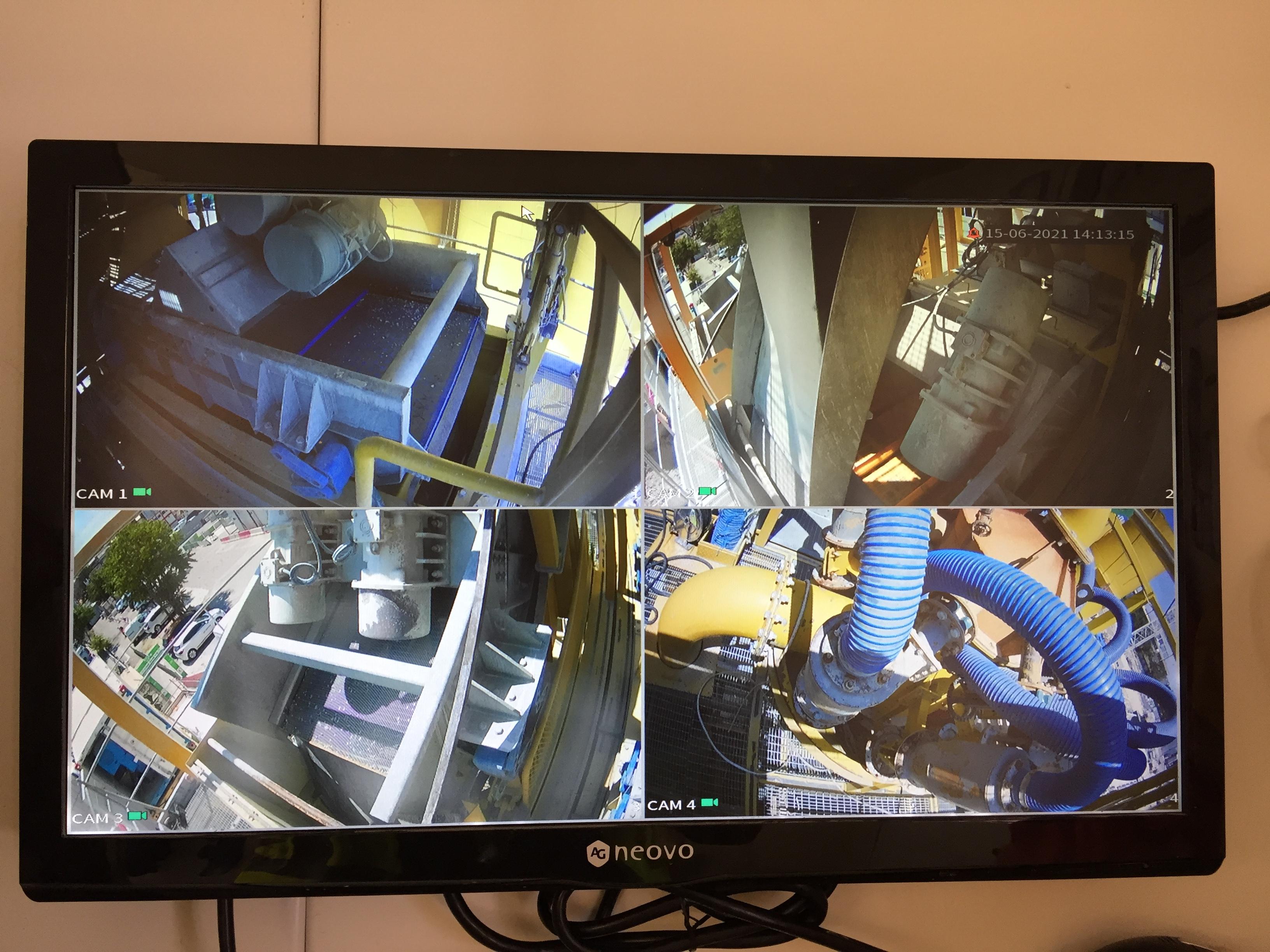 écran de supervision de processus de forage et dessablage