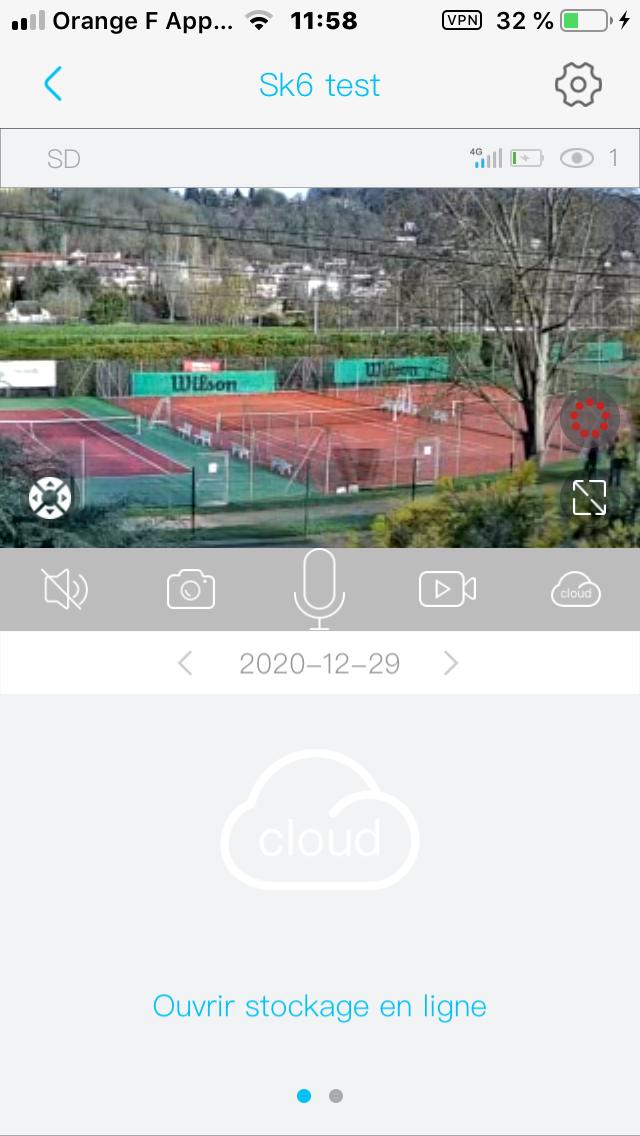 video zoom temps reel de la camera 4G solaire