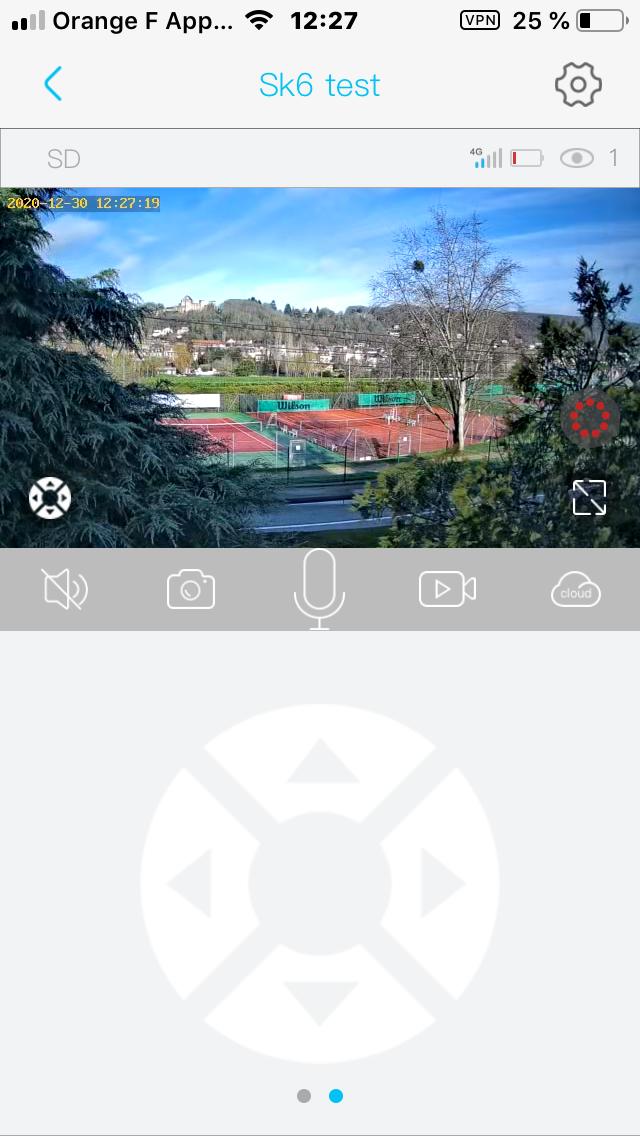 Video temps reel sur smartphone de la camera 4G PTZ pilotable