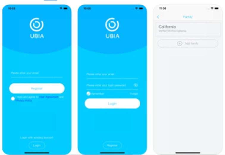 application Ubox de pilotage de la caméra 3G 4G sur smartphone