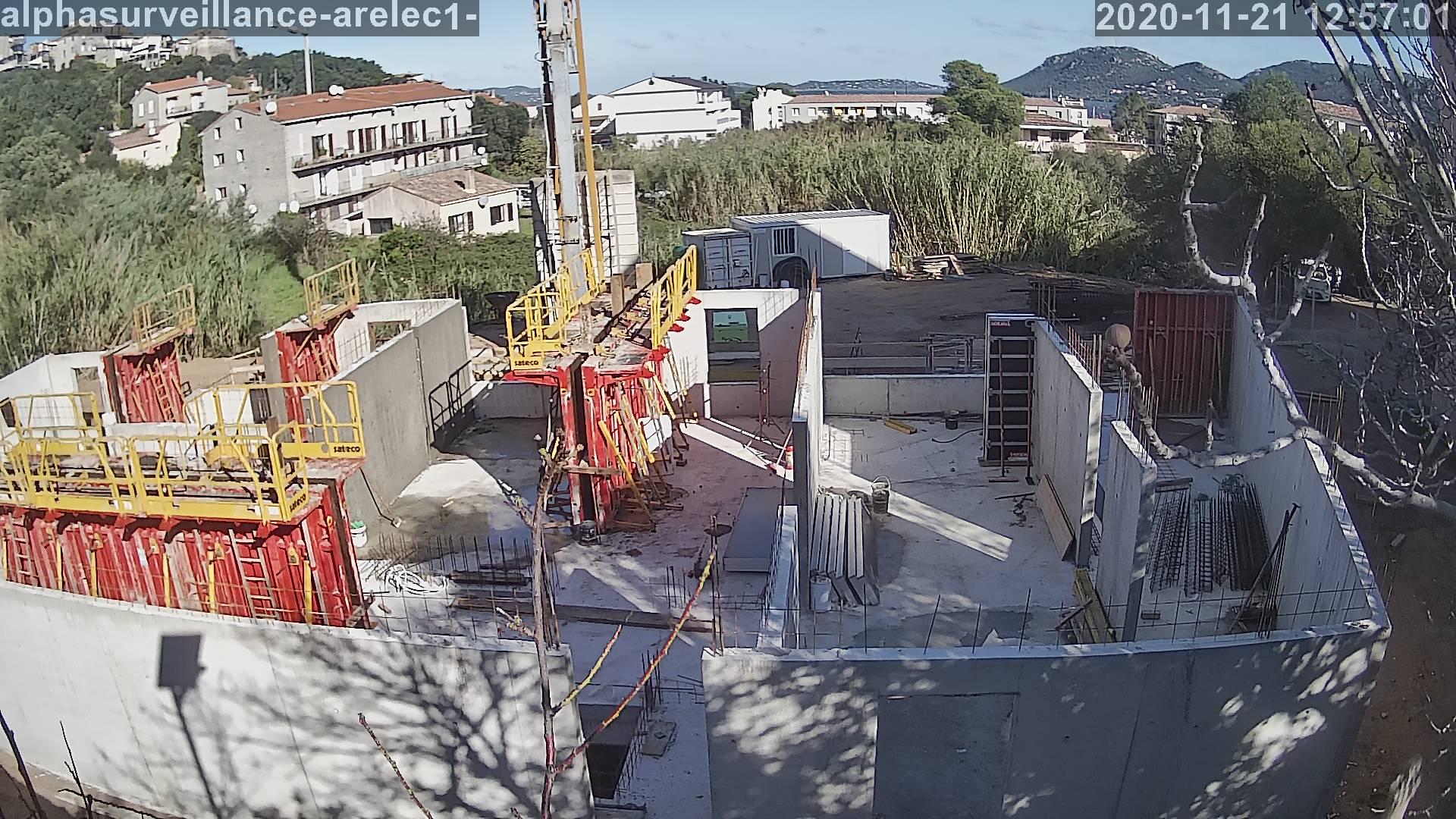 camera time lapse de suivi de chantier de construction