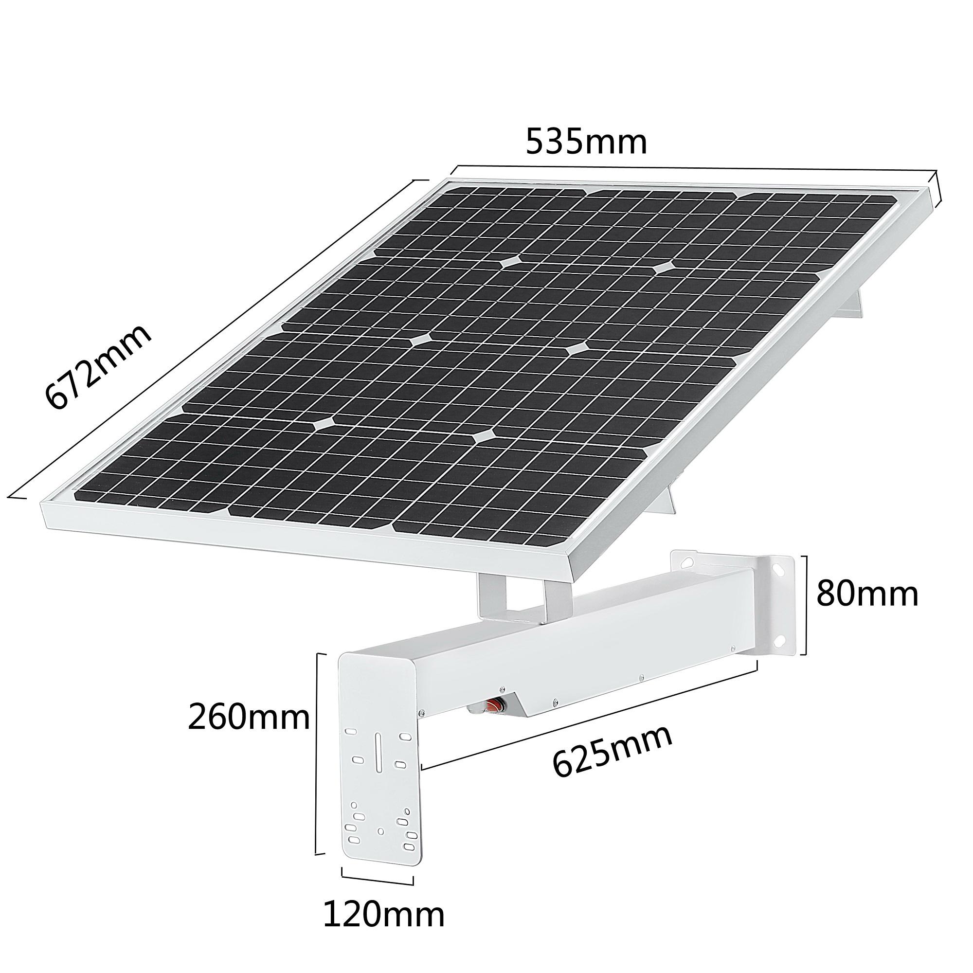panneau solaire 60Wc pour camera exterieur 4G autonome