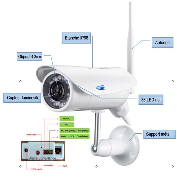 cam ra de surveillance ext rieure 3g enregistreur vid o hd1080p 720p. Black Bedroom Furniture Sets. Home Design Ideas