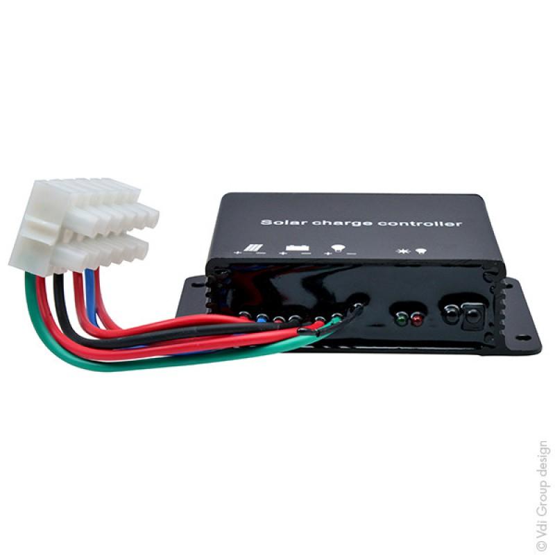 regulateur solaire pour alimentation camera de suivi chantier