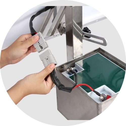 kit panneau solaire et batterie sur cadre inclus