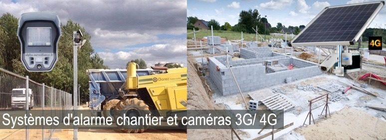 alarme videosurveillance chantier btp, sites isoles