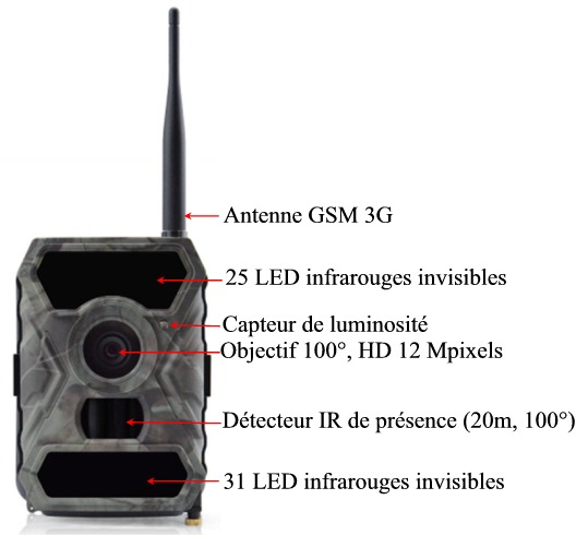 camera gsm exterieure specifications