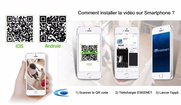 application eseenet pour camera wifi magasin sur android iphone