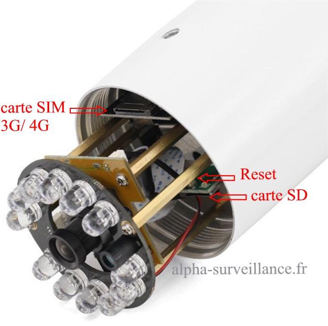 camera videosurveillance exterieure 3g 4g et carte SD
