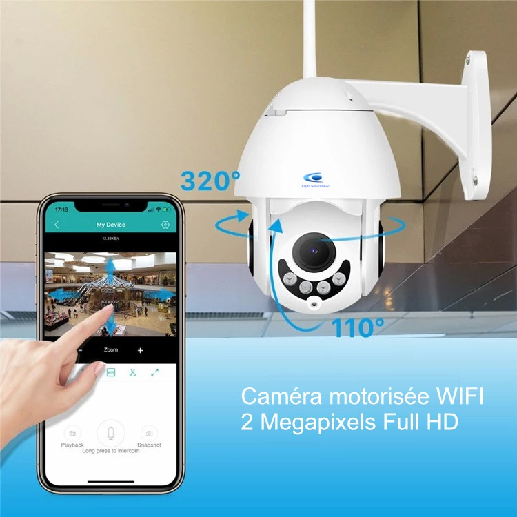 camera wifi motorises 2 Megapixels Full HD