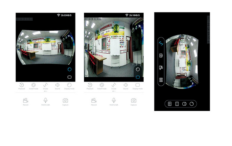 camera de surveillance magasin grand angle