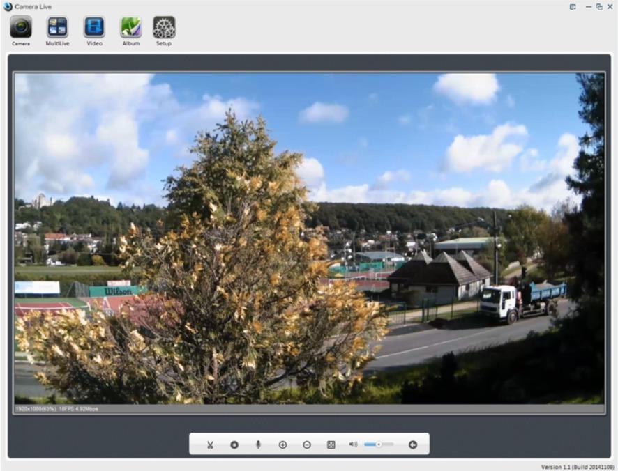 videosurveillance sur PC d'une caméra wifi extérieure