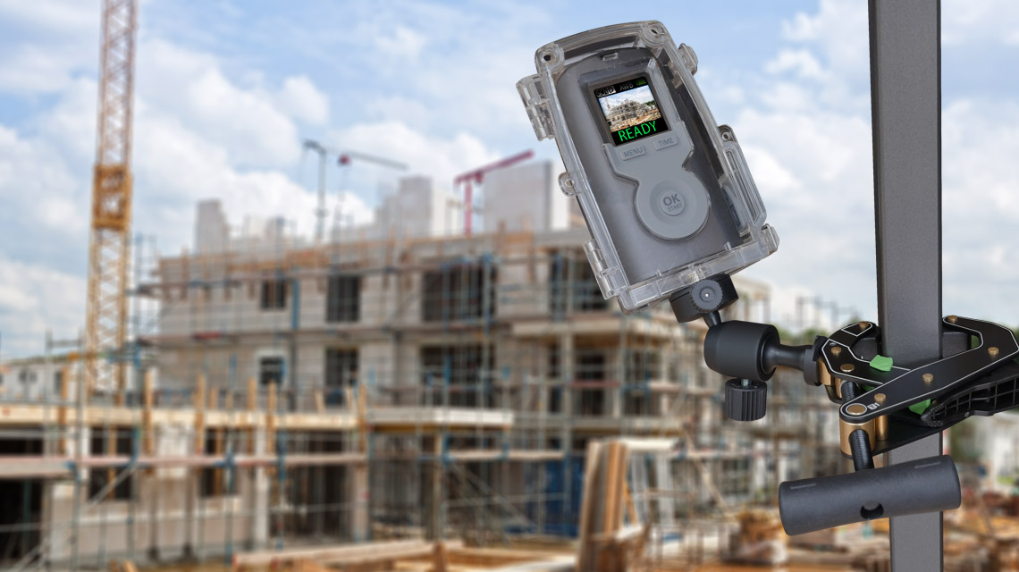 camera video time lapse sur chantier construstion batiment