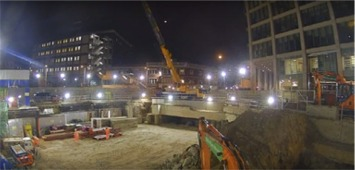 camera time lapse chantier nuit