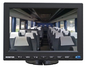 ecran de videosurveillance autocar