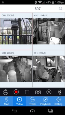 camera bus en wifi sur smartphone