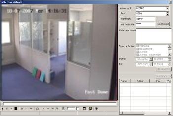 lecture enregistrement videosurveillance carte SD