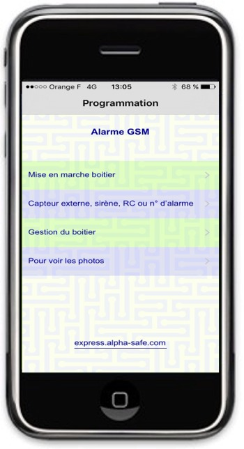 camaera alarme sur android iphone
