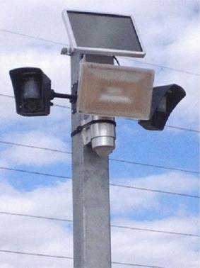 caméras détecteurs et spots sur chanteir