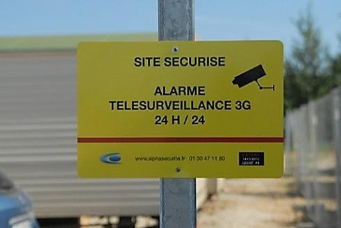 panneau signalisation site protege sous alarme