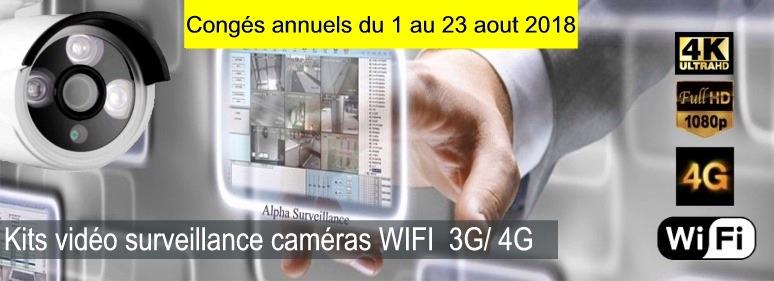 kit camera de surveillance magain full HD, 4K