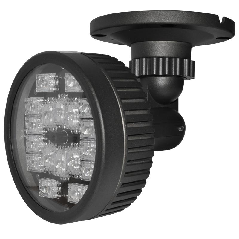 projecteur infrarouges pour cam ra de surveillance la nuit. Black Bedroom Furniture Sets. Home Design Ideas